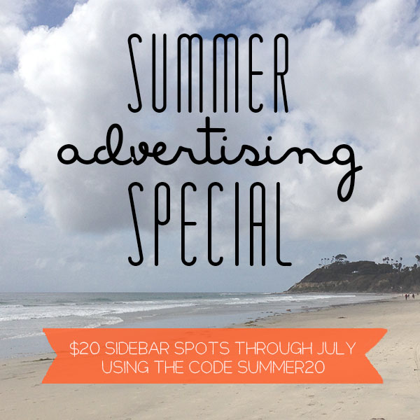 Summer Advertising Special // www.thoughtsbynatalie.com