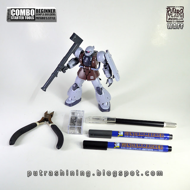 Tutorial: Combo Starter Gunpla Tools for Beginner Putaro Style by Putra Shining