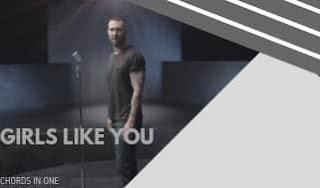 Accurate Guitar Intro solo Tab for GIRLS LIKE YOU | Maroon 5 | Cardi B |