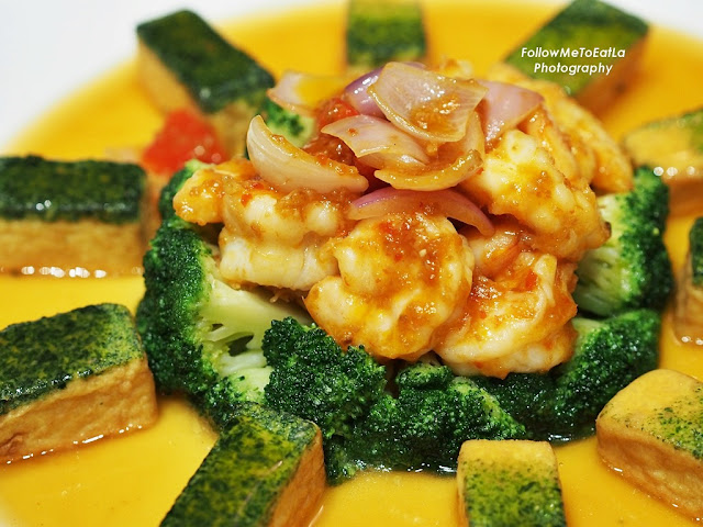 Stir Fried Prawn, Homemade Bean curd and Broccoli with Spicy Sauce RM 180