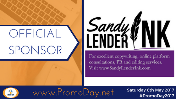 #PromoDay2017 Sponsor Sandy Lender Ink www.PromoDay.net