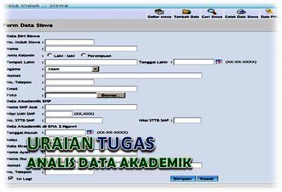 Uraian Tugas Analis Data Akademik
