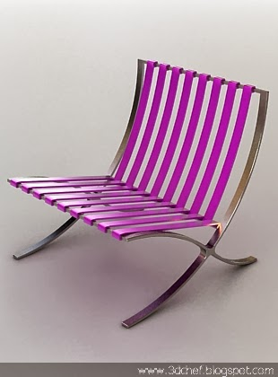 3d fancy stainless chair