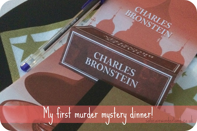 at home murder mystery dinner