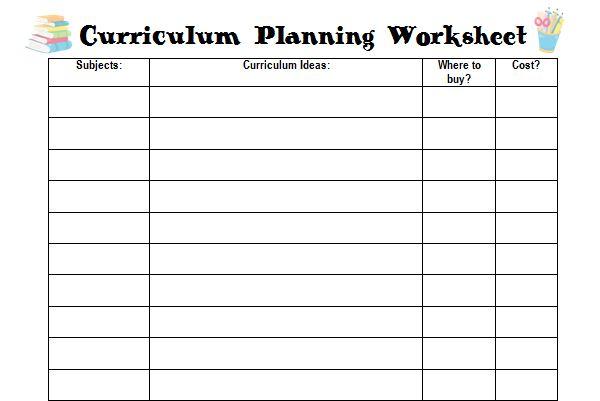 farm fresh adventures homeschool curriculum planning and free curriculum planning worksheet. Black Bedroom Furniture Sets. Home Design Ideas