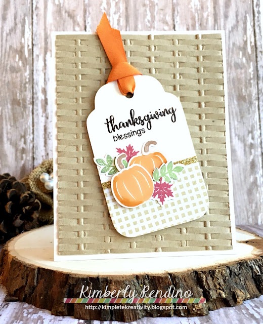 whimsy stamps | kimpletekreativity.blogspot.com | handmade card | stamping | cardmaking | papercraft | autumn | leaves | fall | thanksgiving | blessings | pumpkins | embossing