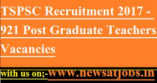 TSPSC-jobs-921-PGT-Vacancies