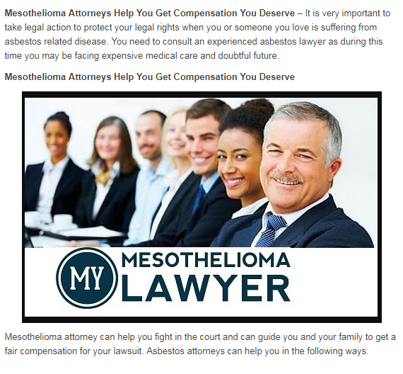 Mesothelioma Lawyers Assist You Get Repayment You Deserve