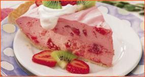 Tarte de morango com gelatina low carb