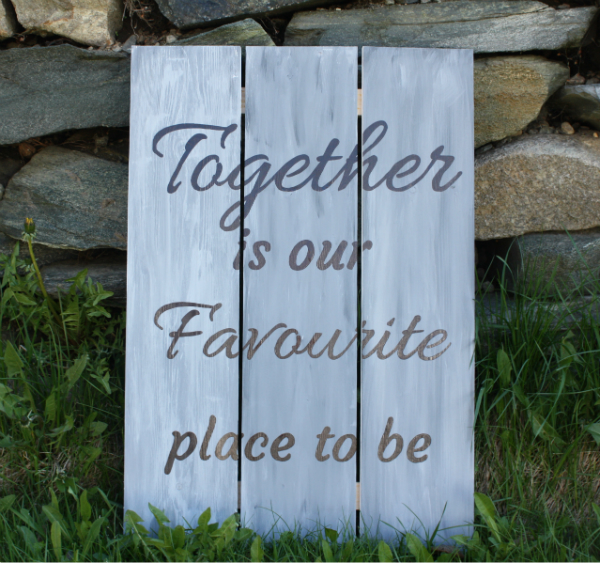 Together Wall Plaque | DevotedQuilter.blogspot.com