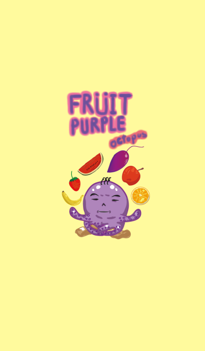 Fruity purple octopus