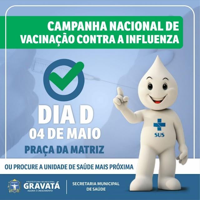 Dia D: Gravatá realiza mutirão de vacinação contra a Influenza neste sábado (4)