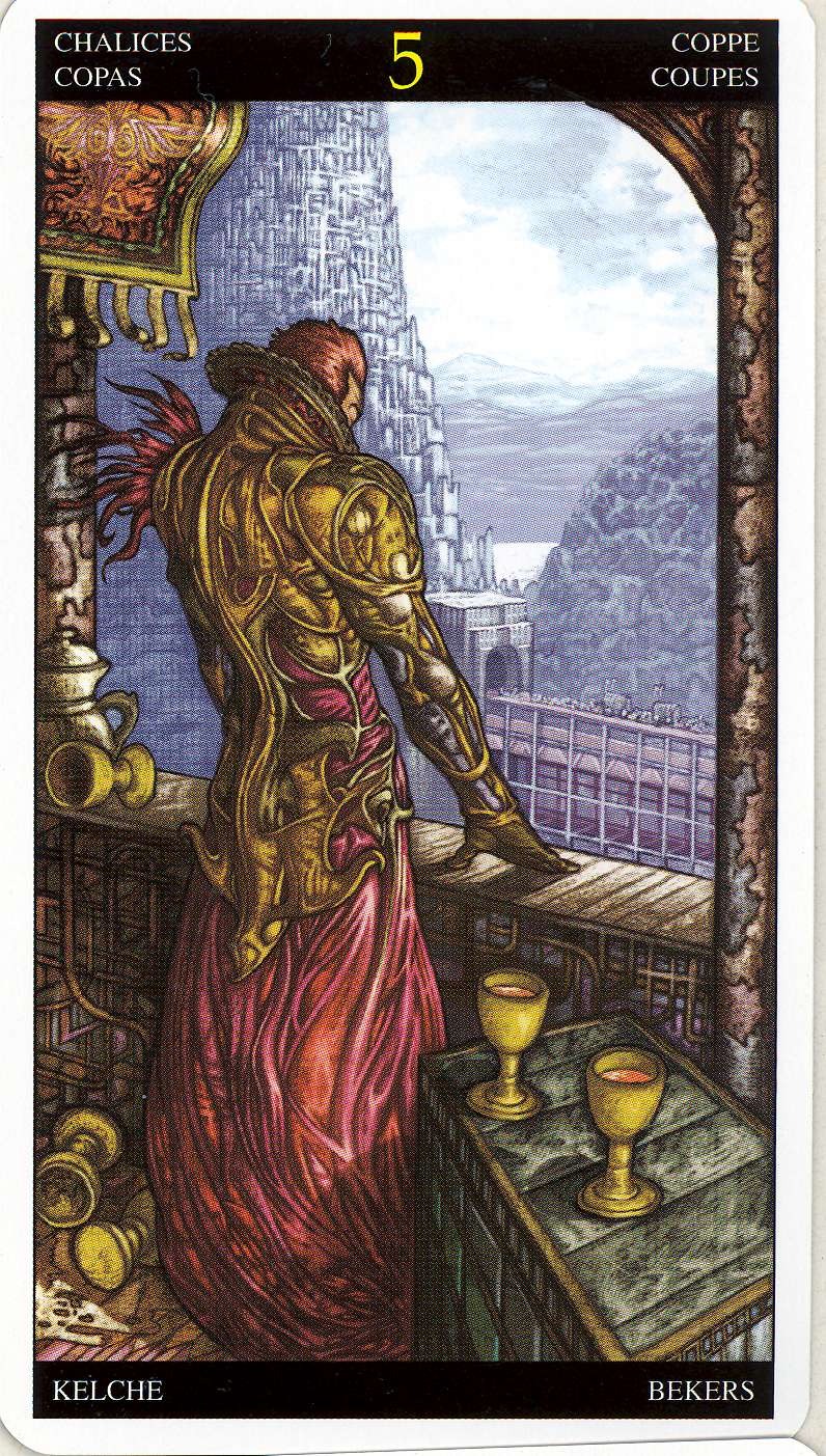 Universal Tarot: Inner Whispers: Daily Draw Affirmations Five Of Cups