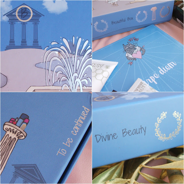 """Divine Beauty"" BeautifulBox by Aufeminin, May 2017. Beauty box unboxing, review and Olympéa make-up look."