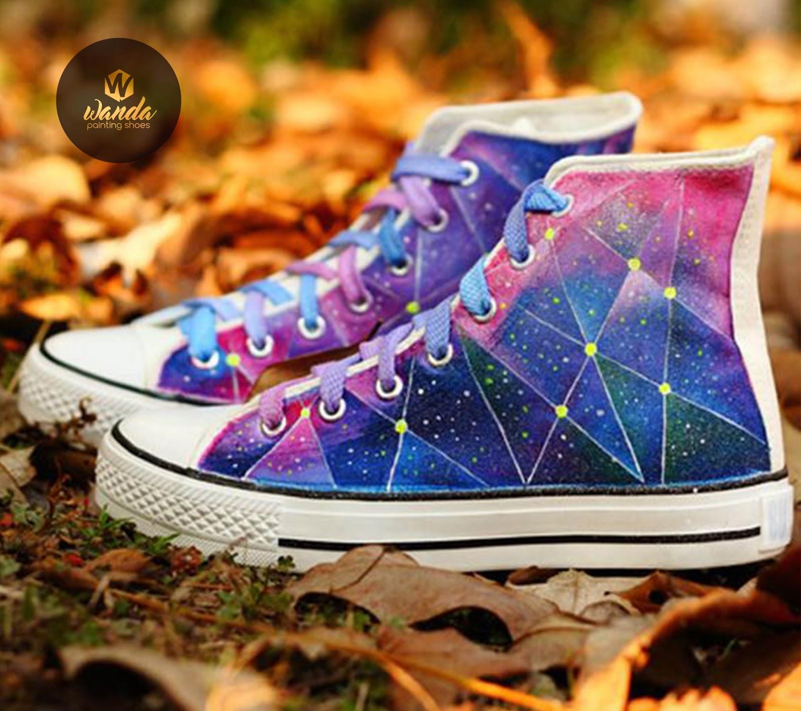 Sepatu Lukis Galaxy - wandastoreid 8db056c368