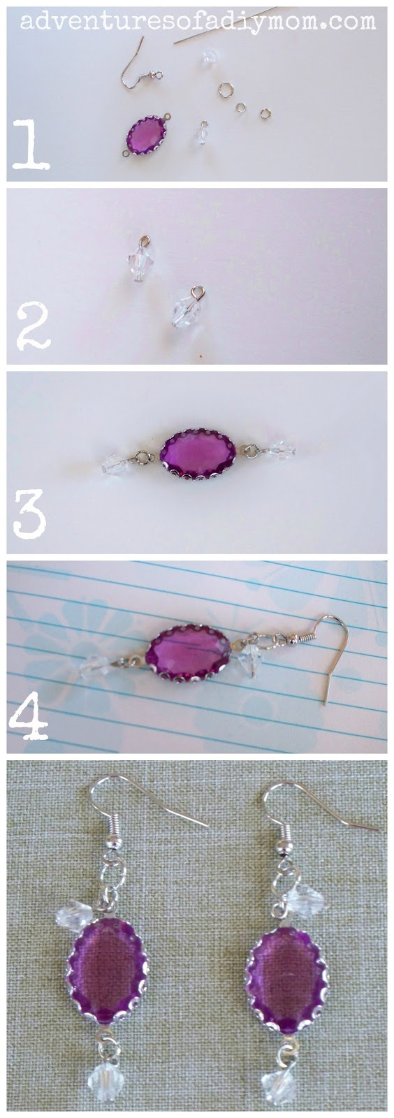 How to Make Violet Earrings