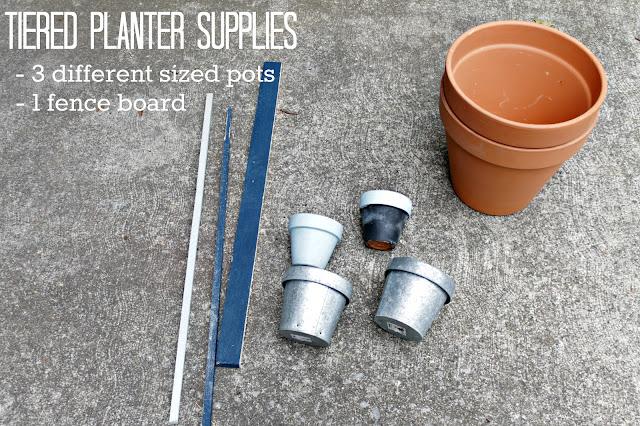 tiered planter supplies