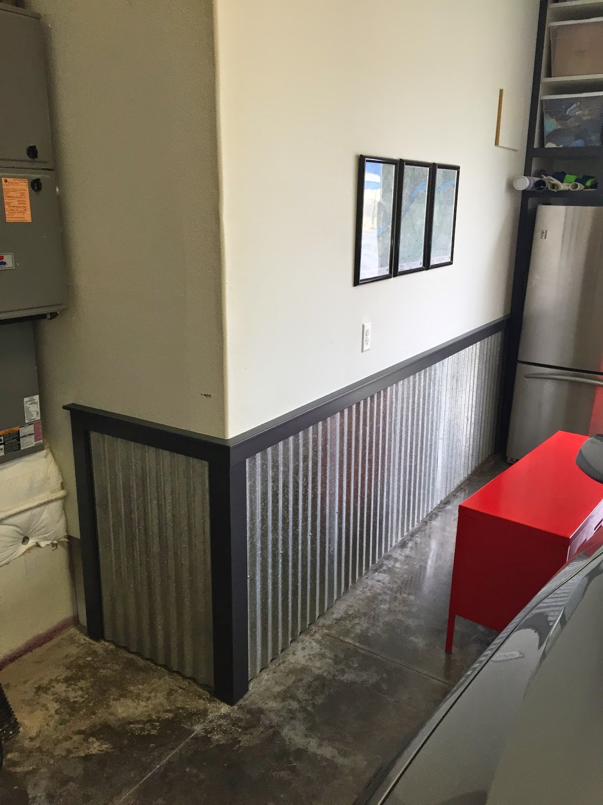 Corrugated Steel Chair Rail Swing Stand Online Garage Cabinets And Nobles Project Blog I Put A Step Up In The Where Garbage Recycling Cans Go
