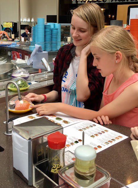 Eating at Yo! Sushi with children
