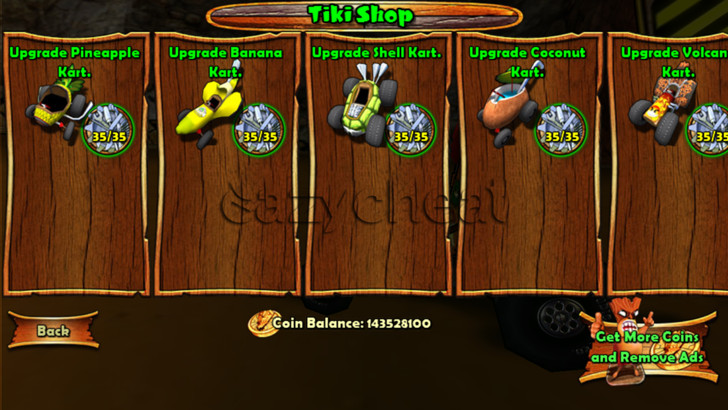 Tiki Kart 3D Cheats