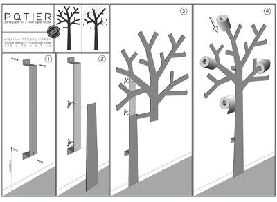 une d coration originale pour vos wc tuto arbre papiers toilettes. Black Bedroom Furniture Sets. Home Design Ideas