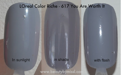 L'Oreal Color Riche - You Are Worth It swatches