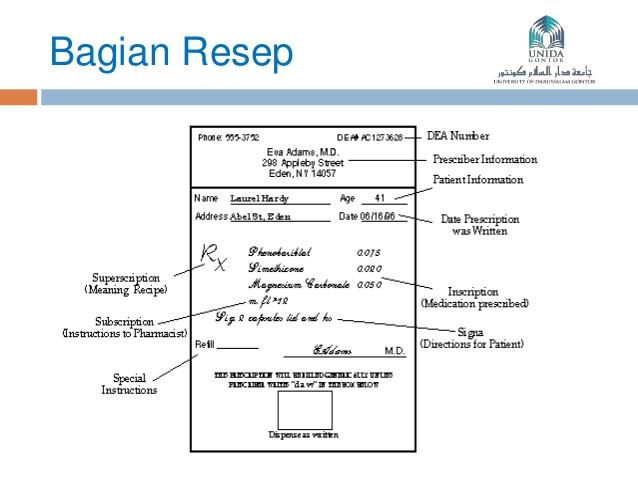 RESEP : Pengenalan, Bagian dan Salinan Resep/Copyresep