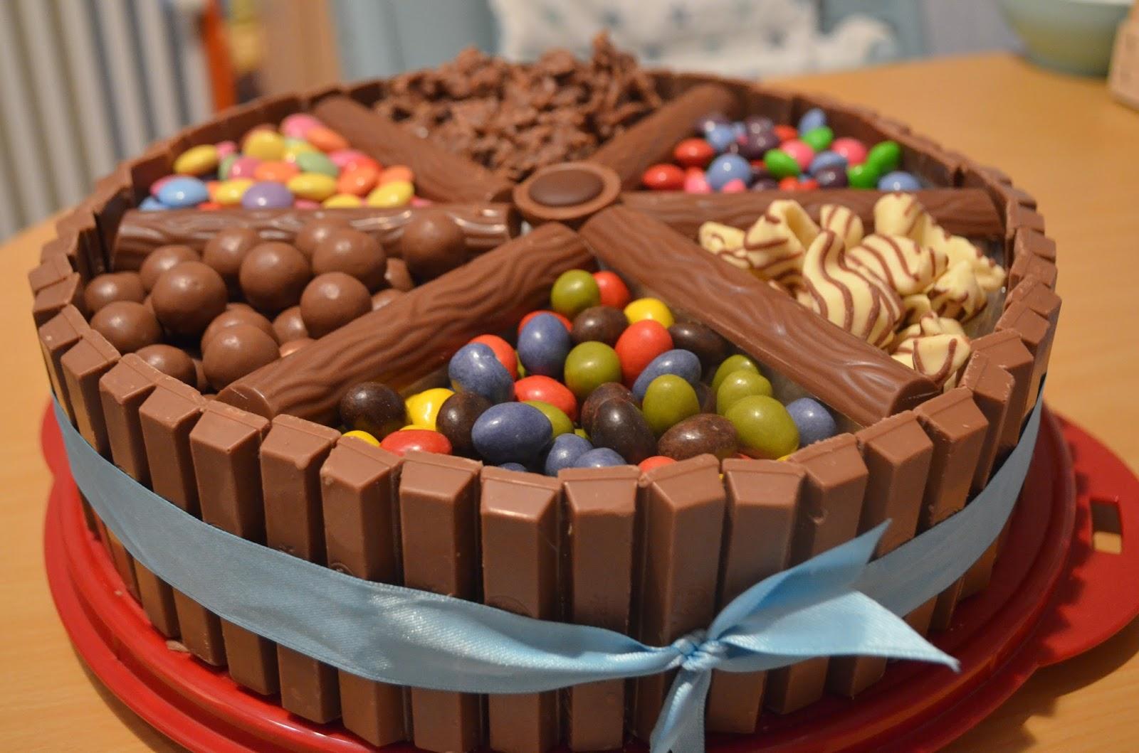 Sussigkeiten Torte Basteln Kinderschokolade