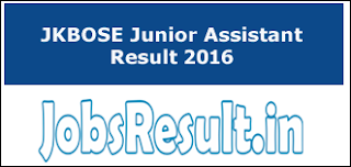 JKBOSE Junior Assistant Result 2016