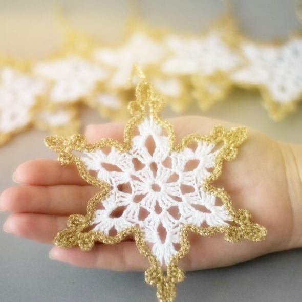 copos de nieve ganchillo, snowflakes crochet, Navidad, fiestas
