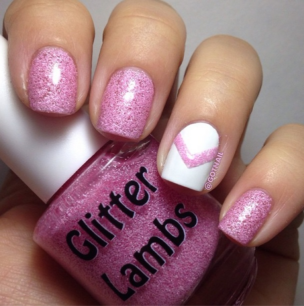 Christmas handmade custom indie nail lacquer by Glitter Lambs for the holiday season. Christmas nail polishes for your nails. Nail art designs pink.