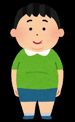 太った少年のイラスト(肥満)