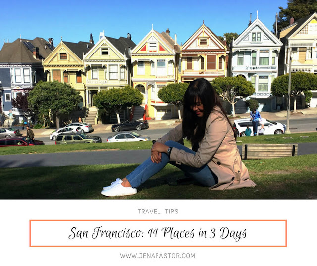 san francisco itinerary cover with background of painted ladies