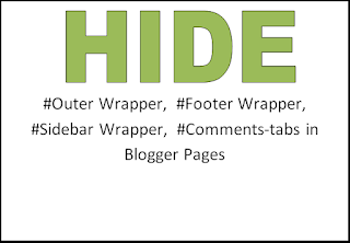 Remove Outer Wrapper, Footer Wrapper, Sidebar Wrapper, Comments-tabs in Blogger Pages