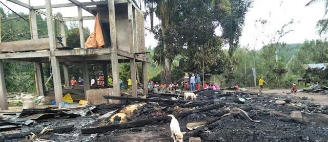 Diduga Arus Pendek Listrik, Rumah Milik Indo Jufri di Mengkendek, Habis Dilalap Si Jago Merah