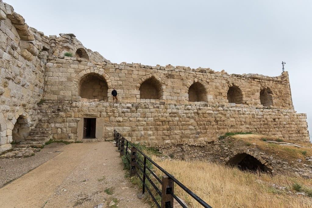 Galería de los cruzados del castillo de Al-Karak, Jordania