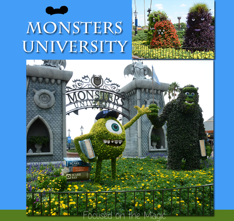 Monsters University topiary display from the 2013 Flower & Garden Festival