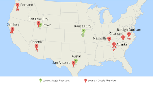 Exploring new cities for Google Fiber