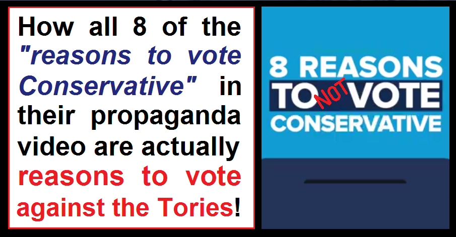 8 Reasons To NOT Vote Conservative