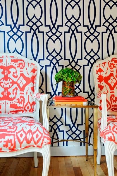 tendance décoration 2016 mélange motifs imprimés chaises anciennes
