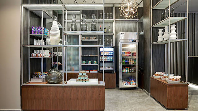 The AC Hotel Raleigh North Hills has a Sundry shop with local provisions.
