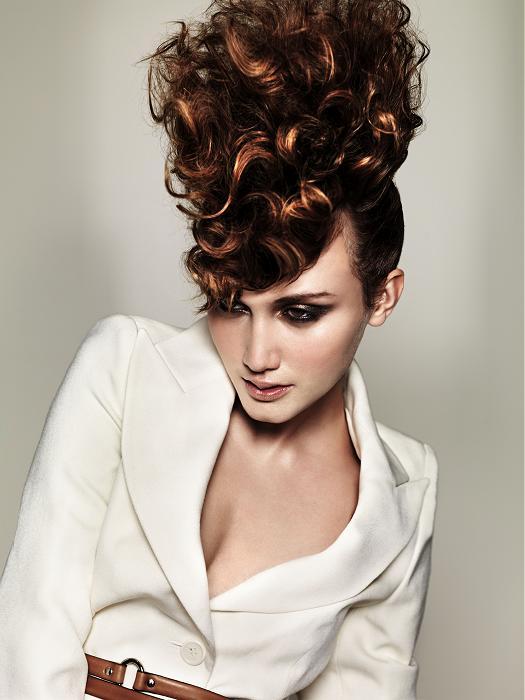 Más inspirador peinados con rizos Fotos de estilo de color de pelo - La moda en tu cabello: Peinados glamourosos recogidos con ...