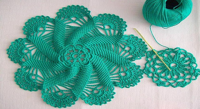 Stitch of crochet napkin round - CROCHET YARN PATTERNS