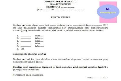 Surat Dispensasi Ikut Kegiatan Pramuka