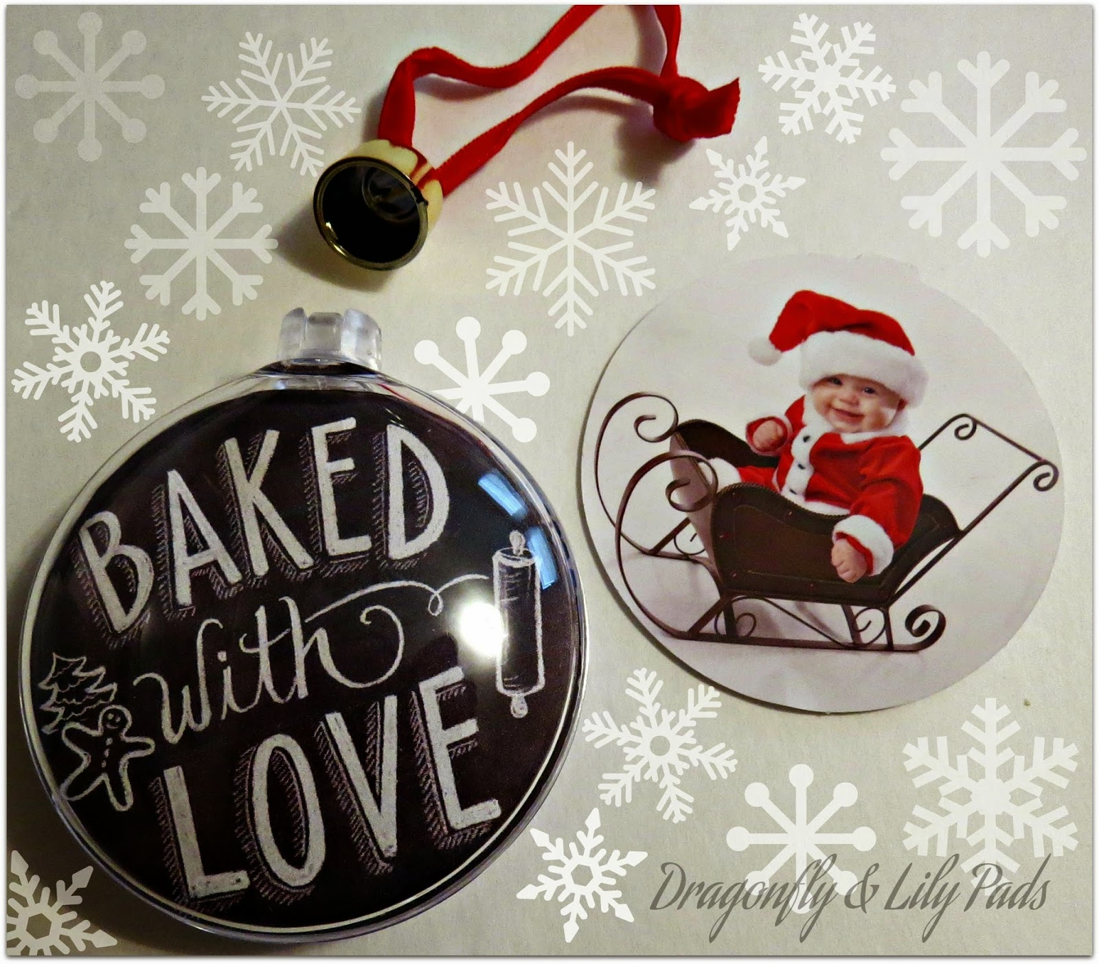 Christmas Ornament, Picture Personalized Ornament, D& LP Designs