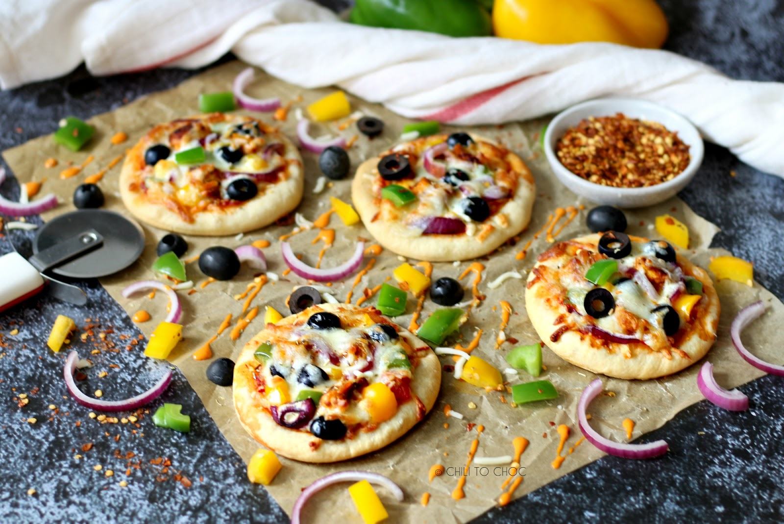 Freezer-Friendly Peri Peri Mini Pizzas
