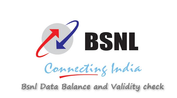 How To Check Bsnl Data Balance, Main Balance And Validity ?