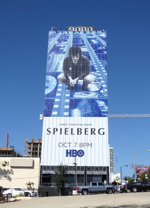 Giant Spielberg documentary film billboard