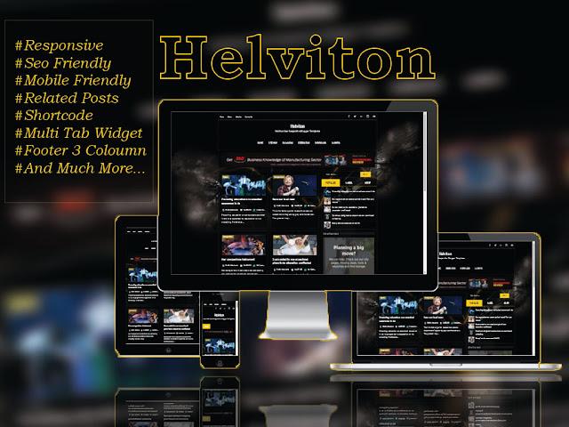 Helviton Premium Dark Responsive Blogger Template