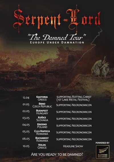Serpent Lord - Ευρωπαϊκή περιοδεία